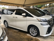 2016 TOYOTA VELLFIRE 2.5 ZA Edition 4 Surround Camera 7 Seat Automatic Power Boot 2 Power Door Intelligent Bi LED Smart Entry Push Start 3 Zone Climate Auto Cruise Multi Function Steering Bluetooth Connectivity 9 Air Bag Unreg