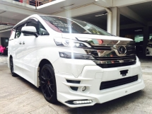 2015 TOYOTA VELLFIRE ZG 3.5cc FULL SPEC WITH TRD BODY KIT FREE WARRANTY