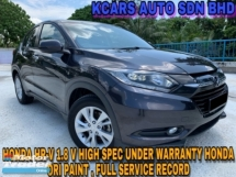 2016 HONDA HR-V 1.8 V HIGH SPEC UNDER WARRANTY ORI PAINT