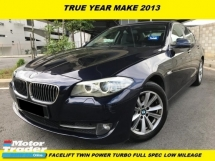 2013 BMW 5 SERIES 520i F10 2.0 FACELIFT TWIN POWER TURBO L/MILES ONE LAWYER OWNER