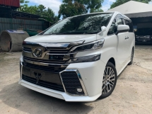 2016 TOYOTA VELLFIRE 2.5 ZG SUNROOF FULL LEATHER PRE CRASH 2 POWER DOOR AND BOOT 2 CAMERA UNREG