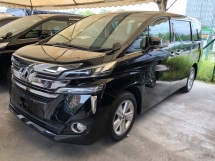 2016 TOYOTA VELLFIRE 2.5 2AR-FE 7 SCVT-i 4 Surround Camera Automatic Power Boot 2 Power Door Intelligent Bi LED Smart Entry Push Start 3 Zone Climate Control 9 Air Bag Unreg