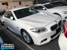 2016 BMW 5 SERIES 523i 520i M Sport 2.0 Twin Turbocharged Pre Collision Lane Departure Assist 2 Memory Seat Keyless Entry Bi Xenon Light Multi Function Paddle Shift Steering Reverse Camera Bluetooth Connectivity Unreg