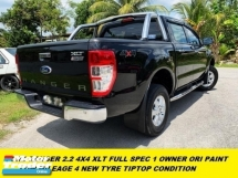 2016 FORD RANGER 2.2 XLT 4X4 FULL SPEC CBU 1 OWNER ORI PAINT TIPTOP CONDITION NO OFF ROAD CAR