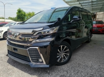 2015 TOYOTA VELLFIRE 2015 Toyota Vellfire 2.5 ZG Pre Crash Pilot Seat Power Boot Unregister for sale