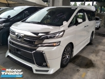 2016 TOYOTA VELLFIRE 2.5 ZG BODYKIT SUNROOF PRE CRASH STOP SYSTEM ALPINE DVD PLAYER WITH REAR ALPINE MONITOR FREE WARRANT
