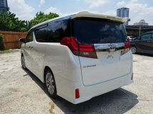 2017 TOYOTA ALPHARD 2.5 SA TYPE BLACK PRECRASH ALPINE SET UNREG
