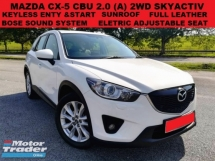2012 MAZDA CX-5 2.0 CBU SKYACTIV SUV (A) SUNROOF KEYLESS ENTRY & START BOSE SOUND SYSTEM FULL LEATHER ELECTRIC ADJUS