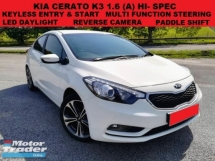 2013 KIA CERATO K3 1.6 (A) HI-SPEC SEDAN KEYLESS ENTRY & START PADDLE SHIFT MEMORY SEAT REVERSE CAMERA ELETRIC ADJUS