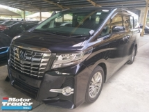 2016 TOYOTA ALPHARD 2.5 SC 360 SURROUND CAMERA MEMORY SEMI LEATHER SEATS PRE CRASH STOP SYSTEM