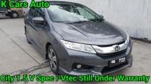 2015 HONDA CITY 1.5 V i-Vtec Modulo Spec Still Under Warranty By Honda Until Dec 2019 Like New Car Condition Worth Buy