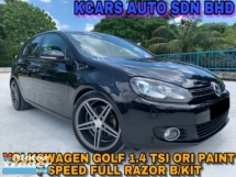 2011 VOLKSWAGEN GOLF 1.4 TSI MK6 ORI PAINT FULL RAZOR B/KIT