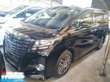 2017 TOYOTA ALPHARD 2.5 SC 360 SURROUND CAMERA MEMORY ELECTRIC SEATS DVD PLAYER WITH REAR MONITOR SUNROOF