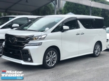 2016 TOYOTA VELLFIRE 2.5Z Golden Eyes v Sunroof (unreg)
