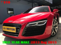 2013 AUDI R8 5.2 V10 FSI QUATTRO - PADDLE SHIFT- B&O SOUND SYSTEM - MMI 2 - FULL NAPPA LEATHER - FULL SERVICE RECORD AUDI MAL - IMPORT BARU AUDI MAL - PERFECT CONDITION....