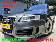 2009 AUDI RS6 5.0 V10 WAGON AUTO - BOSE SOUND SYSTEM - POWER BOOT - REVERSE CAMERA - ORIGINAL MILEAGE - FULL SERVICE RECORD - MEMORY SEAT - FULL NAPPA LEATHER - FULL LOAN,RM0 D.PAYMENT.....
