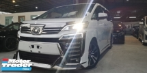 2018 TOYOTA VELLFIRE 2.5 ZG NEW FACELIFT / JAPAN MODELISTA KITS / SUNROOF / FULL LEATHER / ORIGINAL MILEAGE / READY STOCK