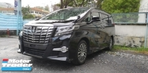 2015 TOYOTA ALPHARD SC 2.5CC / ALPHINE MONITOR & TV / SUNROOF / TIPTOP 5A CONDITION READY STOCK