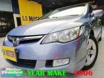 2006 HONDA CIVIC 1.8S I VTEC AUTO -FULL SERVICE RECORD- 1OWNER - ACC FREE - 100% ORIGINAL CONDITION - ORIGINAL PAINT -CLEAN INTERIOR - NO MODIFICATION - GOOD CONDITION -VIEW TO BELIEVE....