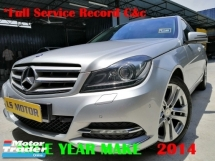 2014 MERCEDES-BENZ C-CLASS C200 CGI BLUE EFFICIENCY W204 FACELIFT - CKD BRAND NEW C&C -FULL SERVICE RECORD C&C - FULL LEATHER - MEMORY SEAT - PUSH START - 1DATIN OWNER - ACC FREE - FREE 1YEAR WARRANTY  - 9YRS TENURE - LIKE NEW - VIEW TO BELIEVE -