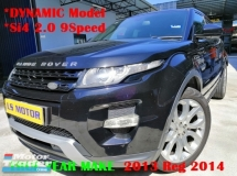 2013 LAND ROVER EVOQUE 2.0 SI4 5DOOR - 9 SPEED GEARBOX DYNAMIC SPEC FACELIFT - CKD BRAND NEW - FULL SERVICE RECORD LAND ROVER - NAVI - FULL LEATHER - MEMORY SEAT - MERIDIAN SOUND SYSTEM - FULL LOAN - 9YEARS LOAN - 3.XX%....