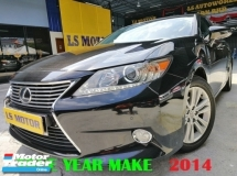 2014 LEXUS ES250 LUXURY SPEC CKD BRAND NEW 2.5 AUTO - NAVI - SUNROOF - NAPPA LEATHER - MEMORY SEAT - PUSH START - 4NEW TYRE - FULL SERVICE RECORD LEXUS - 1LADY OWNER - ACC FREE  - LIKE NEW -VIEW TO BELIEVE -