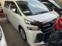 2015 TOYOTA VELLFIRE 2.5 ZA surround camera power boot push start 2 power doors unregistered