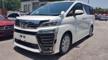 2018 TOYOTA VELLFIRE 2018 Toyota Vellfire 2.5 ZA New Facelift Sun Roof Pre Crash 7 Seater 2 Power Door Unregister for sale