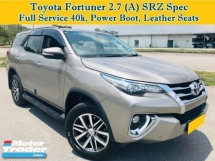 2017 TOYOTA FORTUNER 2.7L (A) SRZ Full Spec 4WD AWD SUV 7 Seater Under Warranty