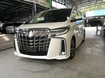2018 TOYOTA ALPHARD 2.5 SC SUNROOF NFL UNREG 2108 ( READY STOCK )