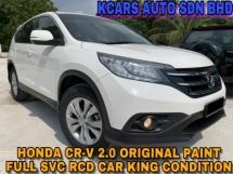 2014 HONDA CR-V CR-V 4 WD ORI PAINT FULL SVC RCD CAR KING