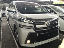 2016 TOYOTA VELLFIRE 2.5 ZA PRE CRASH SUNROOF 360 CAMERA UNREG