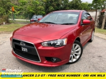 2012 MITSUBISHI LANCER GT MIVEC 4B11 SUPER ORIGINAL LOW MILEAGE PADDLE SHIFTER 38KM ONLY FULL SERVISE RECORD