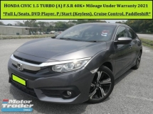 2016 HONDA CIVIC 1.5 (A) VTEC TURBO TCP TC-PREMIUM F.S.R 40K+Mileage U/Warranty 2021