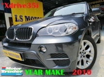 2010 BMW X5 XDRIVE 35I 3.0 FACELIFT AUTO -E70 - PANAROMIC ROOF - MEMORY SEAT - PUSH START - LEATHER SEAT - ALL ORIGINAL - FULL SERVICE RECORD - 4NEW ABSORBER - FULL LOAN - RM0 D.PAYMENT - 3.XX% .....