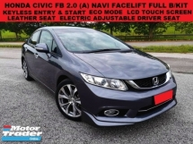 2015 HONDA CIVIC FB 2.0 NAVI FACELIFT (A) KEYLESS ENTRY & START LEATHER SEAT PADDLE SHIFT NAVIGATION LCD TOUCH SCREEN