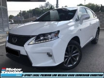 2014 LEXUS RX350 RX 350 FSPORT LOCAL FACELIFT PREMIUM HIGH SPEC LOW MILEAGE ONE OWNER TIPTOP SHOWROOM CONDITION