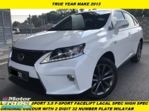 2015 LEXUS RX350 FACELIFT F SPORT LOCAL SPEC FREE WILAYAH 2 DIGIT NUMBER 32 LIMITED SPEC ONE MALAY OWNER ACCIDENT FREE
