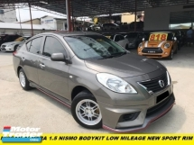 2015 NISSAN ALMERA 1.5 NISMO BODYKIT LOW MILEAGE NEW SPORT RIM I MALAY OWNER