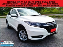 2015 HONDA HR-V 1.8 (A) SUV V SPEC FULL SPEC LED DAYLIGHT LCD TOUCH SCREEN SEMI LEATHER SEAT