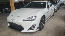 2014 TOYOTA 86 GT 2.0 ( Auto) Unreg 1 YEAR WARRANTY
