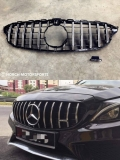 Mercedes W205 GT AMG Grill Style Front Grille  Exterior & Body Parts > Car body kits