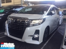 2017 TOYOTA ALPHARD 2.5 SC UNREG.FULLSPEC.SUNROOF.PILOT SEAT.PRE CRASH SYSTEM.360 SURROUND CAMERA.3 POWER DRS N BOOT.SPORT RIM BODYKIT.FREE WARRANTY N MANY GIFTS