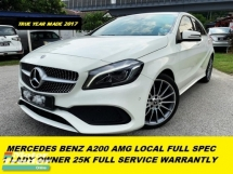 2017 MERCEDES-BENZ A-CLASS A200 AMG LINE LOCAL FULL SPEC 21K MILEAGE UNDER WARRANTLY
