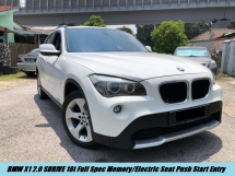 2013 BMW X1 S DRIVE 18I Local Full Spec Memory Electric Seat Push Start Entry