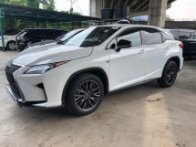 2017 LEXUS RX RX200t F Sport 2.0 Turbocharged Pre Crash Head Up Display Running LED Intelligent Lane Departure Assist Multi Function Paddle Shift Steering Smart Entry Zone Climate Control Bluetooth Connectivity Unreg