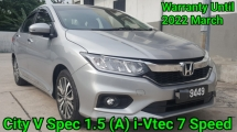 2018 HONDA CITY Facelift 1.5 (A) V Spec i-VTEC New 7 Speed With Paddle Shift Ori 12K Km Mileage Warranty Until 2022 ( 5 Year Honda Warranty ) Worth Buy