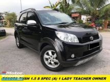 2011 TOYOTA RUSH 1.5S (AT) NEW FACELIFT ONE LADY OWNER LIKE NEW