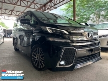 2016 TOYOTA VELLFIRE 2.5 ZG SUNROOF ALPINE MONITOR PILOT SEATS 3 POWER DOOR UNREG