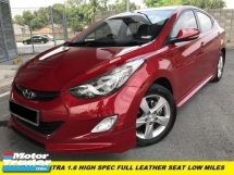 2014 HYUNDAI ELANTRA 1.6 HIGH SPEC (A) P/START K/LESSS LEATHER SEAT L/MILES